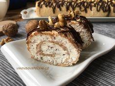 Ořechová roláda se šlehačkou (bez mouky) - Víkendové pečení