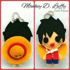 Monkey D. Luffy #onepiece #flanneldoll #keychain #handmadedoll #animedoll