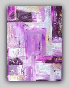 Abstract Painting Radiant Orchid Purple Gray by TracyHallArt.