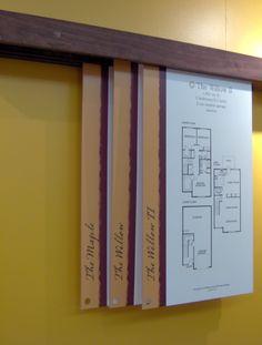 Custom sliding floorplans.  Sales center display for Meadowleaf.  Centex Homes. Lynnwood, WA Office Interior Design, Office Interiors, Marketing Office, Sales Center, Sales Office, Interactive Installation, Wayfinding Signage, Environmental Design, Display Design