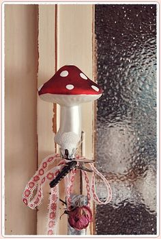 Clip on Mushroom plus more as a Window decoration.  Repinned by www.mygrowingtraditions.com