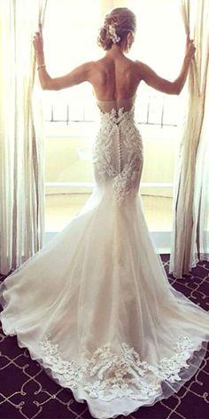 Mermaid Wedding Dresses Inspiration 44 #mermaidweddingdresses