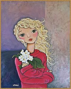 You Will Love Our Lovely Designs :): Acrylic Colour Painting - Blonde Girl