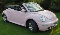 Wedding Car Hire - The Love Bugz - Convertible Volkswagen VW Beetle . Pink Beetle, Beetle Car, Pink Volkswagen Beetle, Volkswagon Bug, Beetle Juice, Mercedes Auto, Bmw X3, Maserati, Bugatti