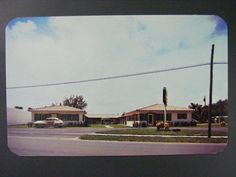 Miami Florida FL Sands Motor Court Vintage Color Chrome Postcard 1950s