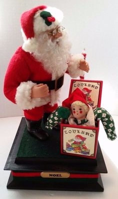 Musical Lighted Holiday Creations Santa Toyland Jack in Box 93 Christmas Songs