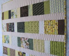charm squares baby quilt