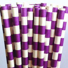 cadbury purple wedding straws