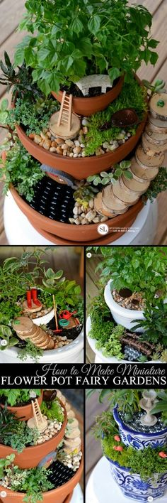 How to Make Miniature Flower Pot Fairy Gardens MichaelsMakers By Stephanie Lynn