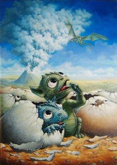 """Cute baby dragons. """"Chronicles of Pern: The Hatchling"""" by Jill Bauman"""