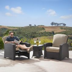 These might be good for screen patio - good way to have a leg rest without taking up a ton of space.  good for entertaining and lounging. Santa Fe 3pc Recliner Set  person tent
