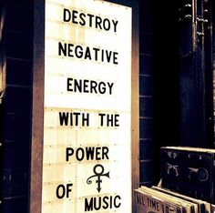 Destroy negative energy with the power of music