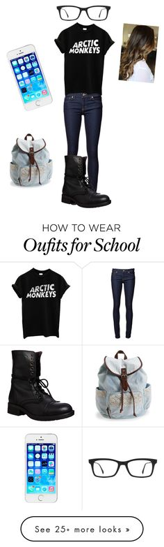 """casual day at school"" by treasure-marie on Polyvore featuring Steve Madden, Ray-Ban, Aéropostale, women's clothing, women's fashion, women, female, woman, misses and juniors"