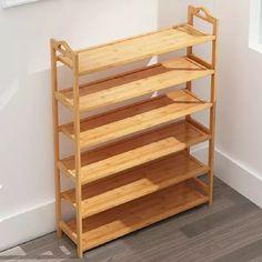 Shoe Storage Design, Closet Shoe Storage, Rack Design, Corner Shelf Design, Wooden Shoe Racks, Natural Wood Furniture, Coffee Bar Home, Shelving, Interior Design
