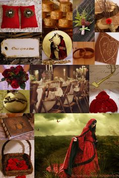 """Little Red Riding Bride"" - red & gold rustic wedding inspiration"