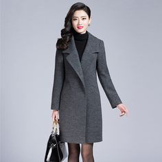 01fe7e5b9254 ... directly from China coat styles Suppliers  Elegant OL Wool Coats zanzea  Long Women Coat New 2016 Covered Button Winter Coat Women Manteau Femme  Abrigos ...
