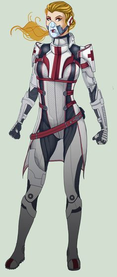 NORA Mass Effect OC WIP by Spi-ritual-ity
