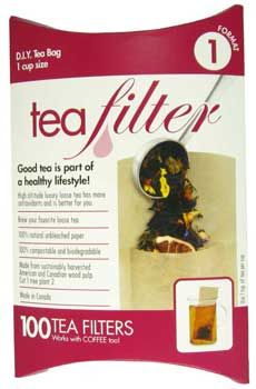 1 cup T-Sacs - Get the great taste of loose leaf tea with the convenience of tea bags.  Contains 100 sacs.