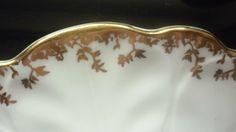 Aynsley floral pattern scalloped rim 9ins diameter plate | eBay