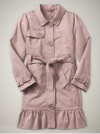 $55 ruffle trench coat from Gap