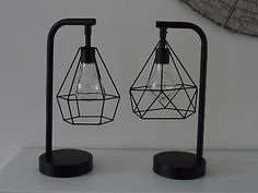 Great prices on your favourite Home brands, and free delivery on eligible orders. Side Table Lamps, Table Lamps For Bedroom, Bed Side Lamps, Bed Side Table Ideas, Industrial Led Lighting, Bedside Lamps Industrial, Geometric Side Table, Battery Lamp, Black Floor Lamp