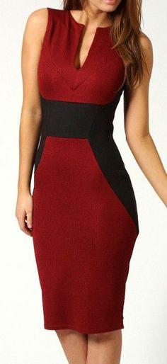 Work Chic | Red+Black.  dresslily.com