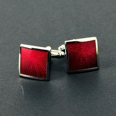Square Cufflinks Ruby, $24, now featured on Fab.