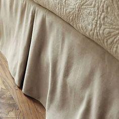 king duvet 2 shams, bed skirt set oat color - Google Shopping Burlap Bed Skirts, Burlap Bedding, Quilt Bedding, Linen Bedding, Bedding Sets, Bed Linens, Bedding Decor, Linen Pillows, Cushions