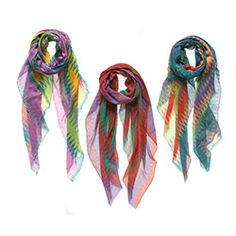 These scarves, a modal and cashmere mix, are the perfect summer-to-fall accessory: They'll protect your neck against newly chill breezes, but the fun pattern and rich, juicy colors will remind you that it's not winter yet.