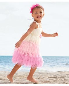 frothy tulle girls dress