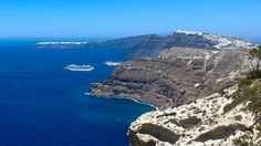 Holidays At Santorini Caldera Santorini Caldera, Santorini Island, Santorini Greece, Greece Cruise, Greece Travel, Greece Islands, Cruise Vacation, Beautiful Landscapes, Athens