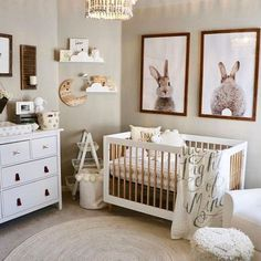 Goal: create a classic, feminine, sweet nursery WITHOUT the use of pink. GOAL ACHIEVED! Image by @shelbcain