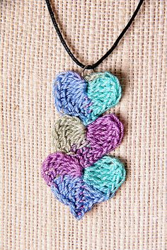 Ravelry: Easy Joining Hearts Jewelry Set pattern by The Perfect Knot - Michelle Kovach