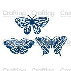 Tattered Lace Dies - Butterflies Trio
