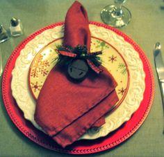 ornaments as napkin rings