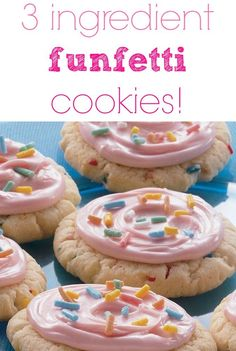 Funfetti cookies (3 ingredient cookies) yourmodernfamily.com