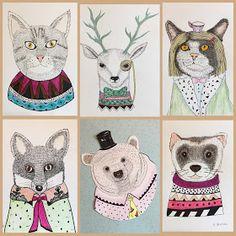 Art Room Britt: Indi Maverick-Inspired Illustration Animals - Adult Class