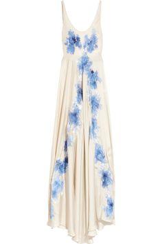 rosamosariolace-appliquéd silk
