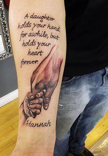 Father Daughter tattoo done by Lisa Kofakis at Crimson Heart Designs Tattoo Studio