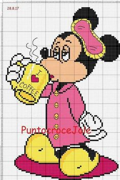 40 Disney Cross Stitch Charts Free from Cross Stitch Charts You may then choose which sides of the cell you're in you desire to get an outline. Cross stitch charts tell you whatever you want to learn about a cross Disney Cross Stitch Patterns, Cross Stitch For Kids, Cross Stitch Baby, Cross Stitch Charts, Cross Stitch Designs, Cross Stitching, Cross Stitch Embroidery, Mickey E Minnie Mouse, Elephant Cross Stitch