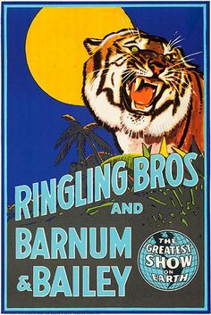 Ringling Bros & Barnum & Bailey Circus - 1942 - Promotional Advertisin – Poster-Rama Ringling Brothers Circus, Baileys Original, Barnum Bailey Circus, Vintage Circus Posters, Circus Art, Circus Train, Advertising Poster, Sideshow, Antique Art
