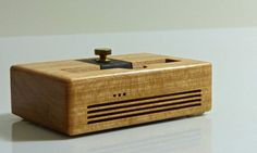 iPhone 6 Docking Station - The CONCERT Acoustic Speaker Dock in Cherry wood – Use With or Without a Cover - Amplifies the Sound by SchuttenWorks on Etsy https://www.etsy.com/listing/204375652/iphone-6-docking-station-the-concert