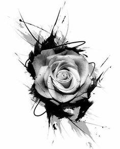Roses + trash polka - love the added lines Wolf Tattoos, Forearm Tattoos, Body Art Tattoos, New Tattoos, Hand Tattoos, Girl Tattoos, Symbol Tattoos, Brown Tattoos, Black Rose Tattoos
