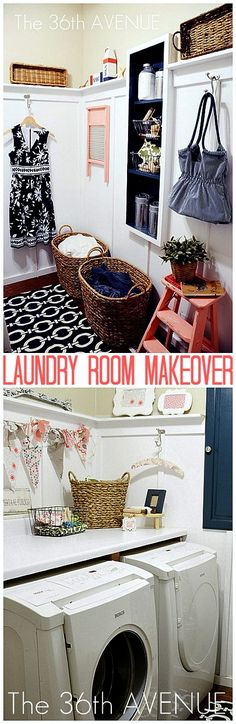 Ideas of how to give your Laundry Room a Makeover! the36thavenue.com
