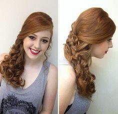 penteado de lado festa