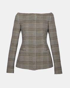 Wool Off-The-Shoulder Jacket