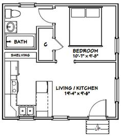 Tiny Guest House, Guest House Plans, Tiny House Layout, Small House Floor Plans, Best Tiny House, Tiny House Cabin, Small House Design, Tiny House Trailer Plans, Tiny Cabin Plans