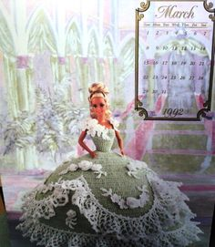 dress pattern for gibson girl doll | MARCH 92 ANNIE BARBIE DOLL COTILLION 1800S CROCHET BALL GOWN LFL