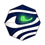 Seattle Seahawks Custom Foldable Rain Umbrella Wind Resistant Windproof Folding Travel Umbrella