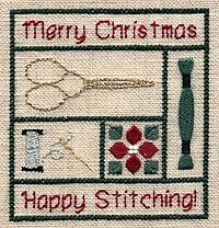 Happy Stitching Ornament, designed by Betsy Foster, from @Kreinik.